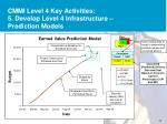 cmmi level 4 key activities 5 develop level 4 infrastructure prediction models