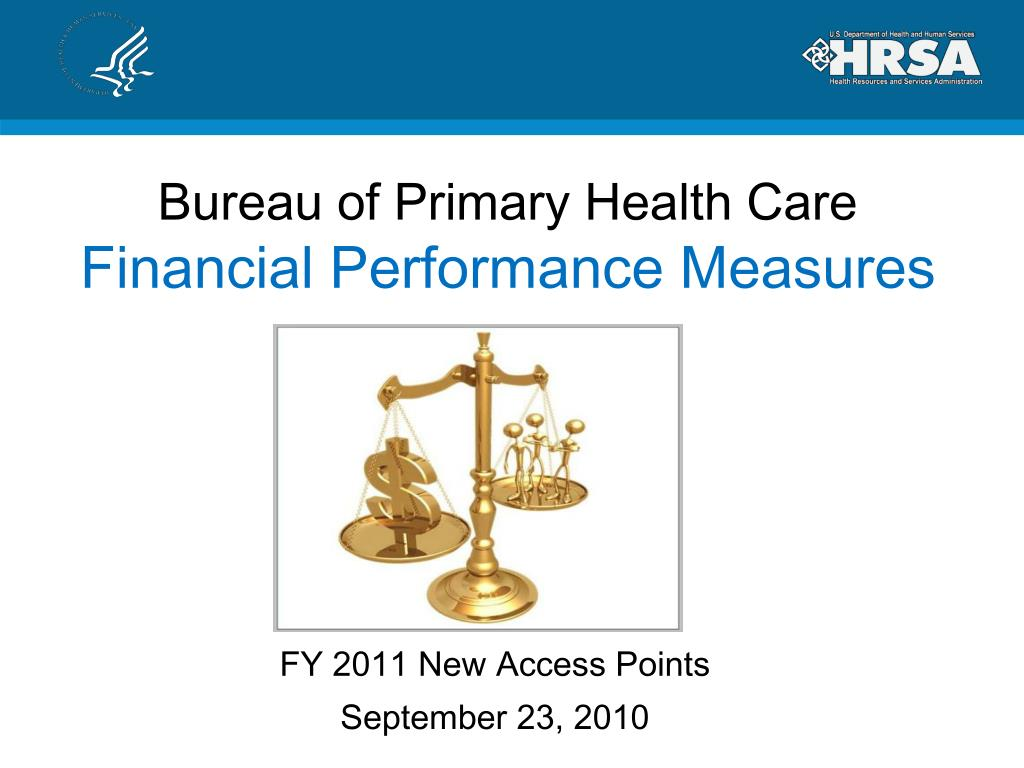 bureau of primary health care financial performance measures l.