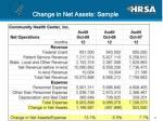 change in net assets sample