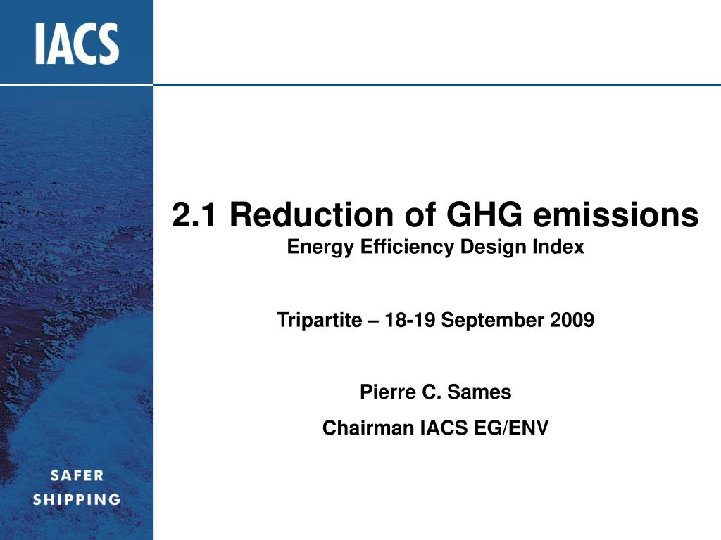 2 1 reduction of ghg emissions energy efficiency design index l.
