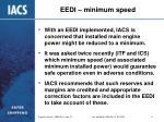 eedi minimum speed