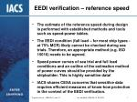 eedi verification reference speed