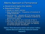 alberta approach to permanence