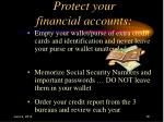 protect your financial accounts