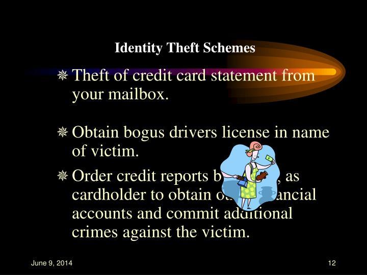 Identity Theft Schemes