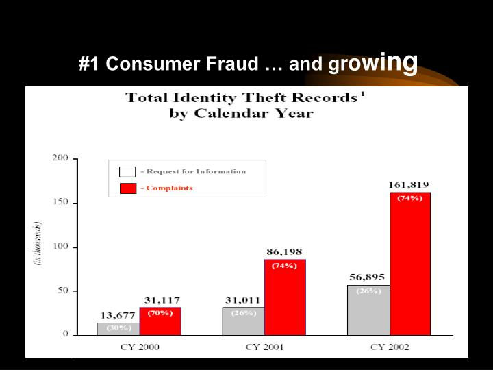 #1 Consumer Fraud … and g