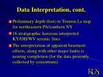 data interpretation cont