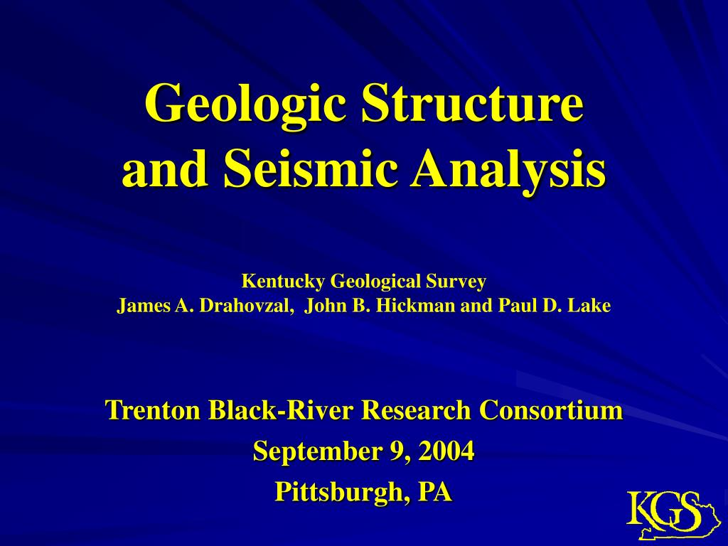 geologic structure and seismic analysis l.