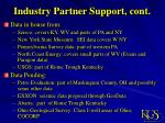industry partner support cont
