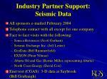 industry partner support seismic data