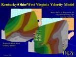 kentucky ohio west virginia velocity model