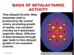 basis of betalactamse activity