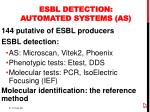 esbl detection automated systems as