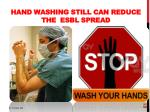 hand washing still can reduce the esbl spread