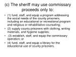 c the sheriff may use commissary proceeds only to