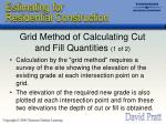 grid method of calculating cut and fill quantities 1 of 2