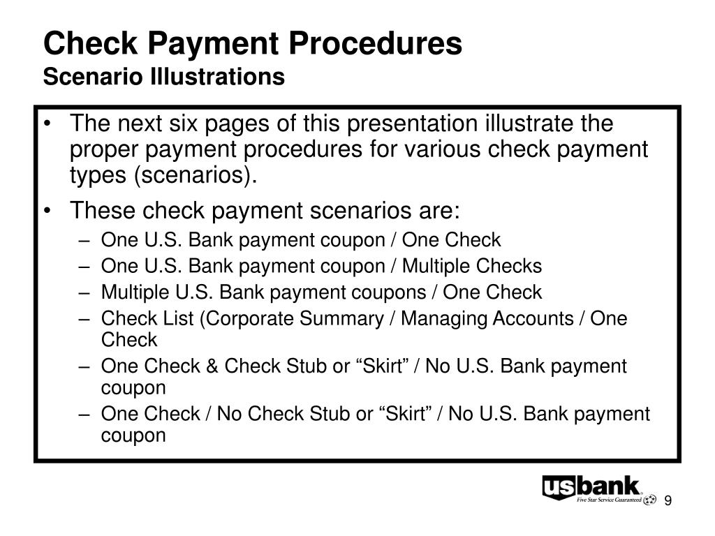 Check Payment Procedures