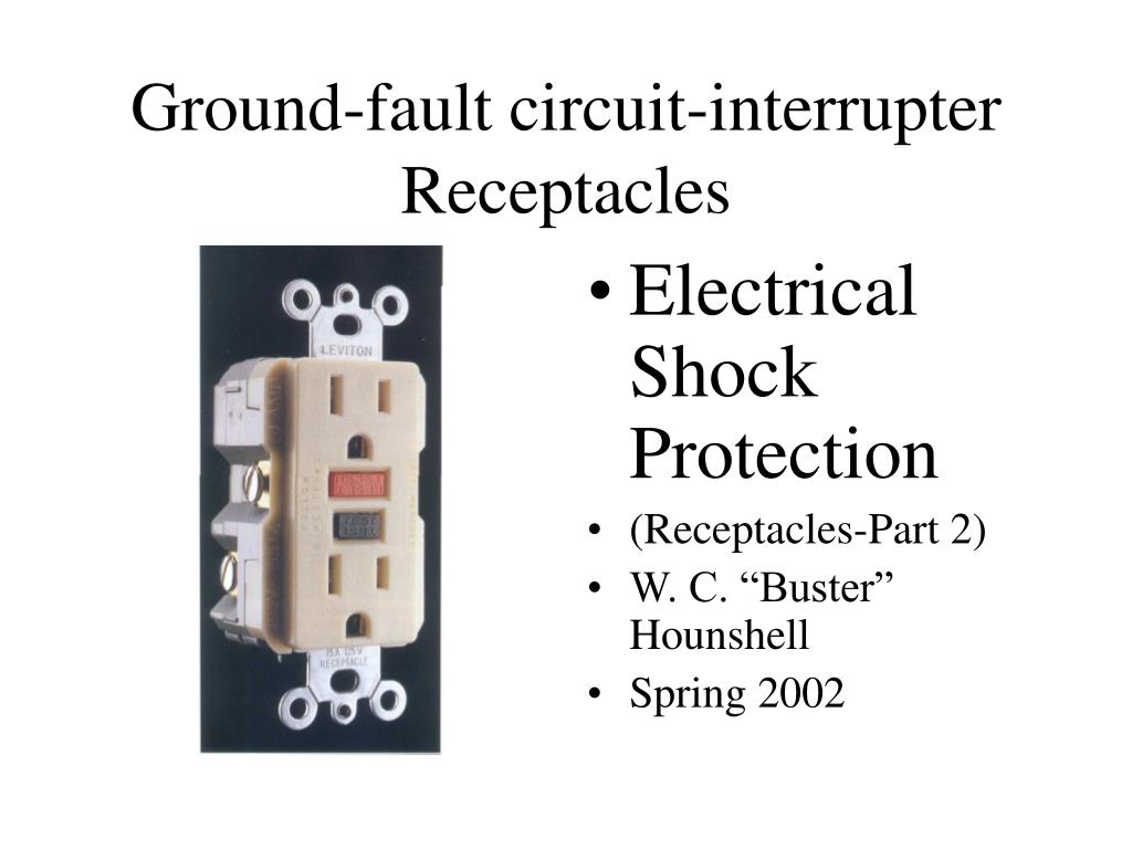 ground fault circuit interrupter receptacles l.