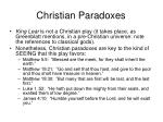 christian paradoxes