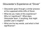 gloucester s experience at dover