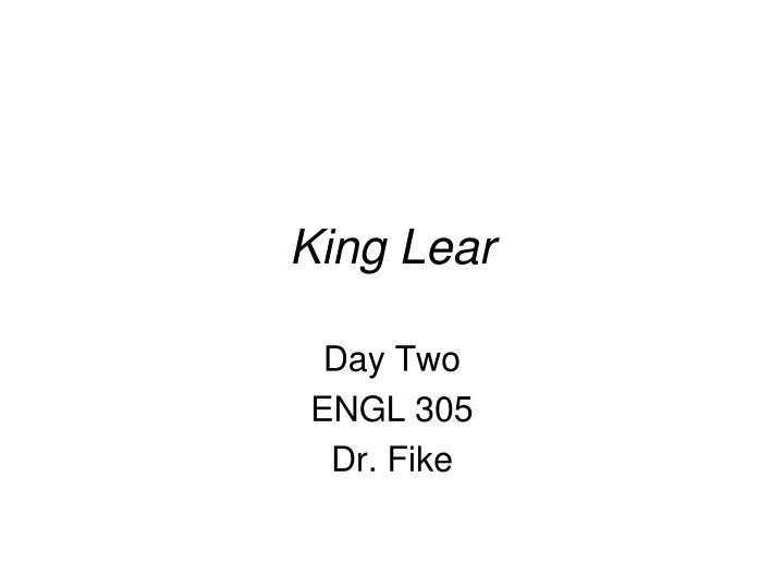 king lear n.