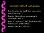 analyzing blood gas results