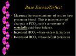 base excess deficit
