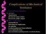 complications of mechanical ventilation38
