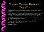 negative pressure ventilators simplified