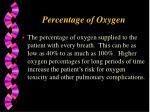 percentage of oxygen