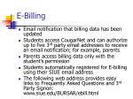 e billing
