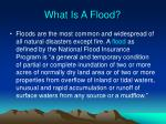 what is a flood