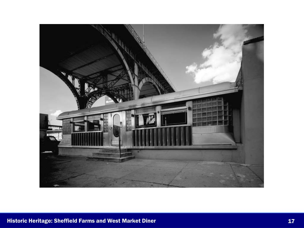 Historic Heritage: Sheffield Farms and West Market Diner