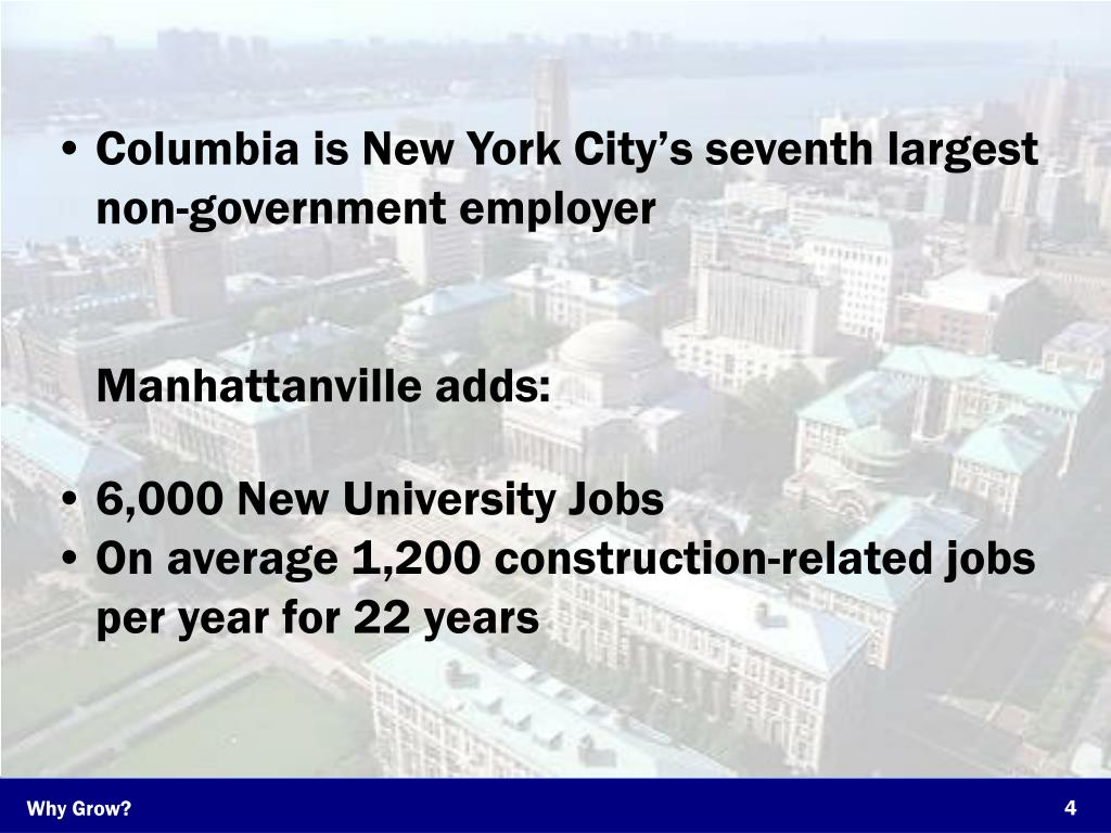 Columbia is New York City's seventh largest non-government employer