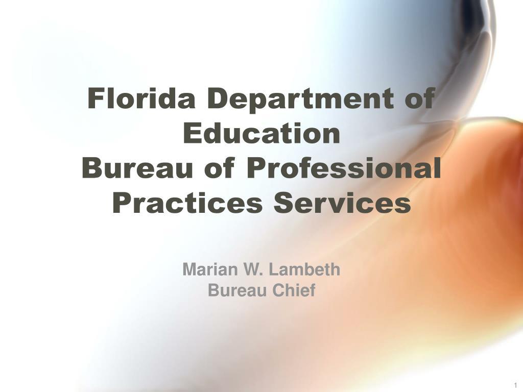 florida department of education bureau of professional practices services l.