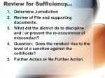 review for sufficiency