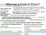 who has a code of ethics