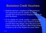 bookstore credit vouchers