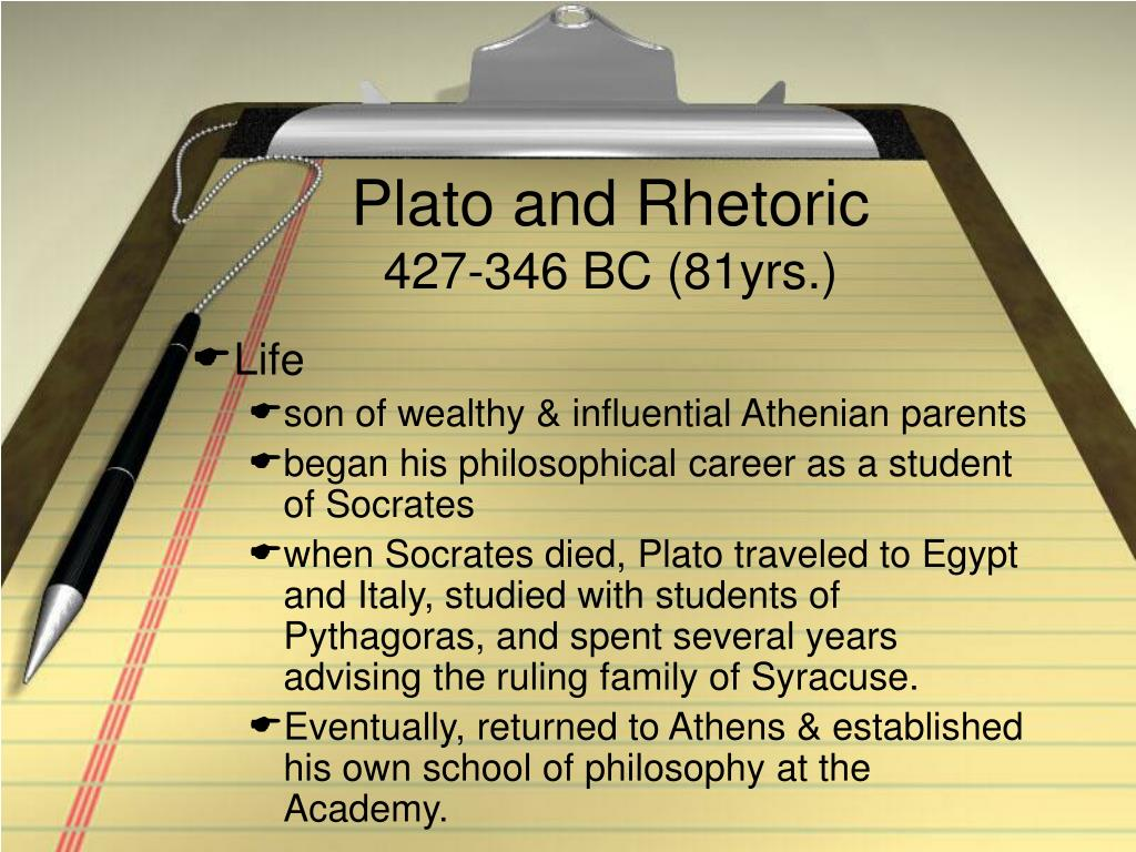 plato and rhetoric 427 346 bc 81yrs l.