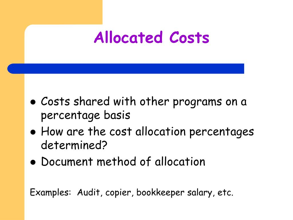 Allocated Costs
