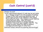 cash control cont d