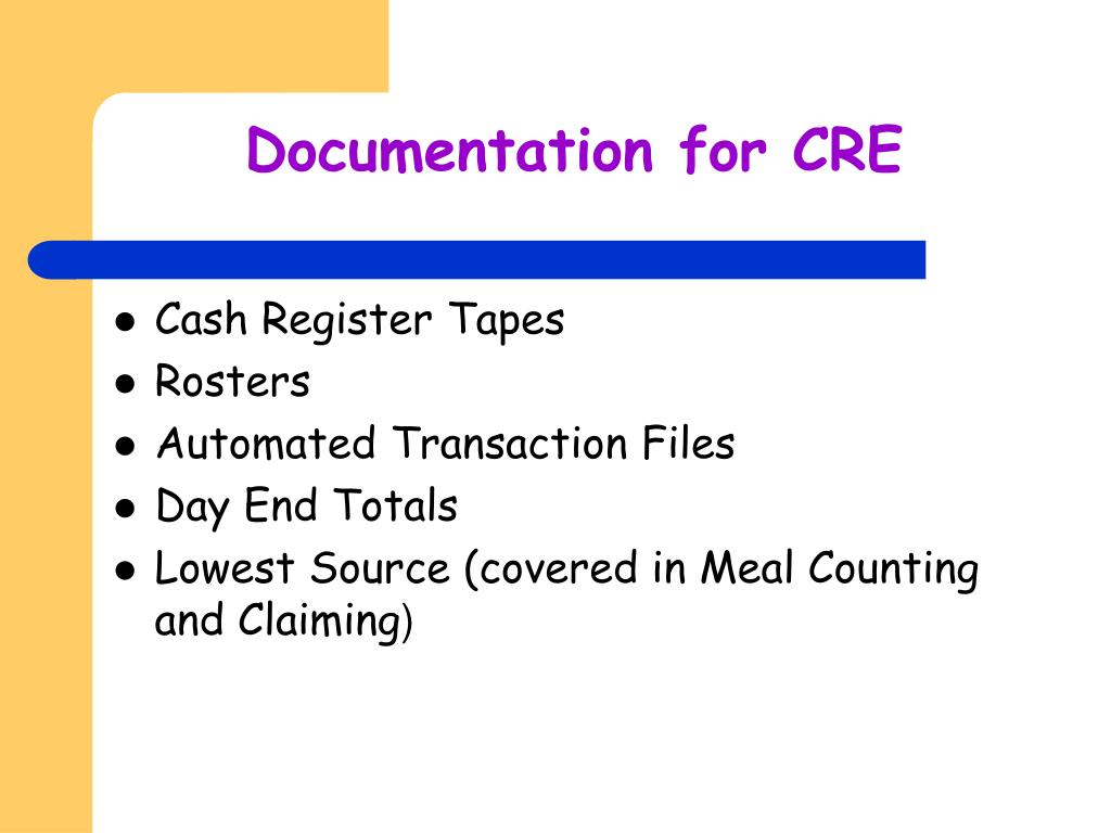 Documentation for CRE