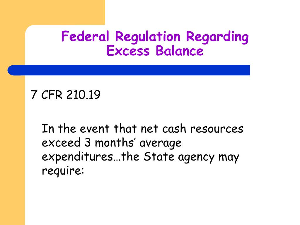 Federal Regulation Regarding