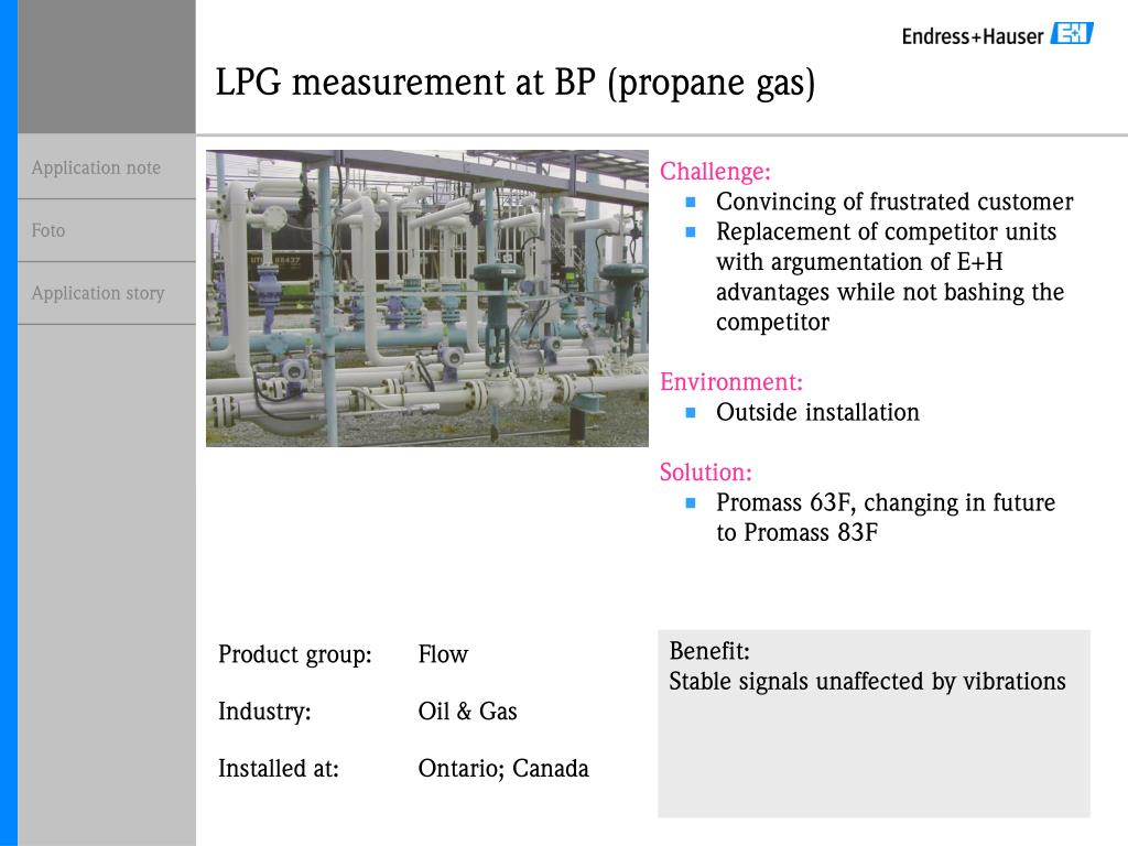 lpg measurement at bp propane gas l.