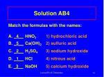 solution ab4