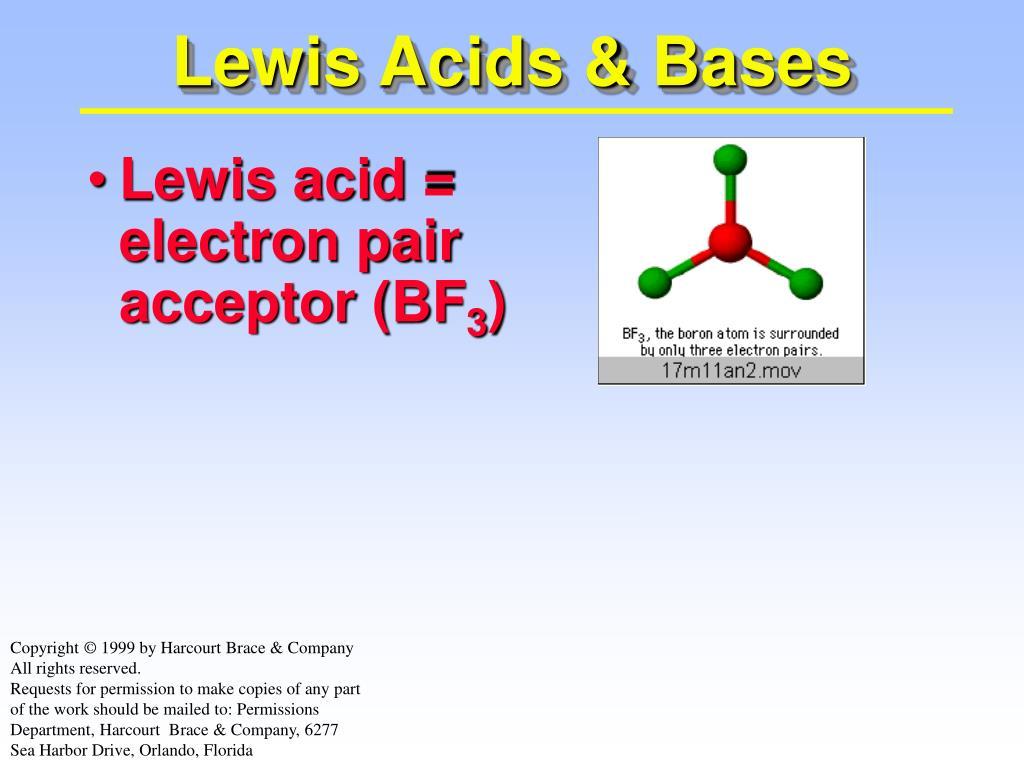 lewis acids bases l.