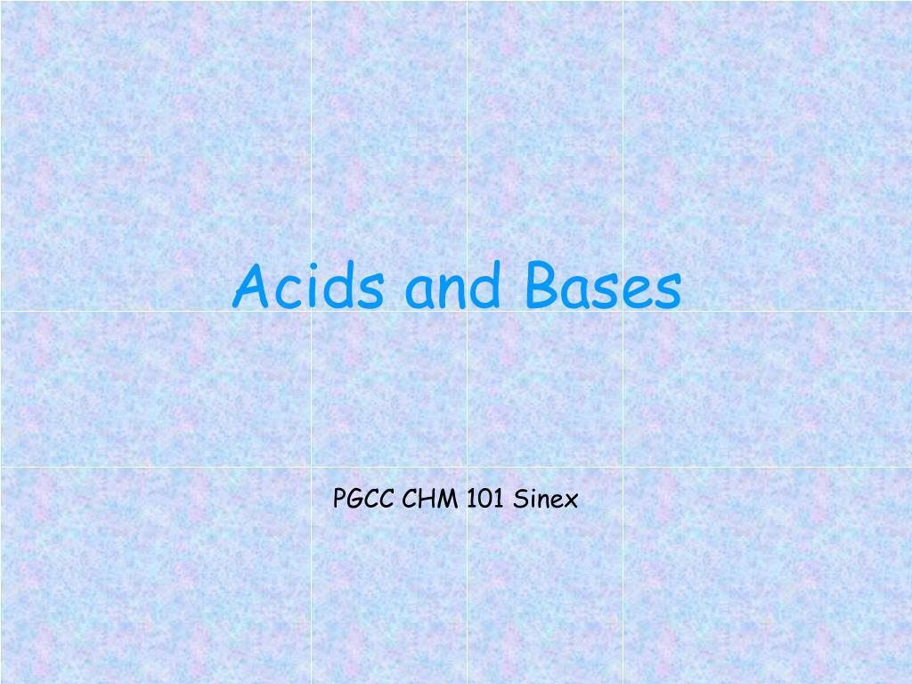 acids and bases l.
