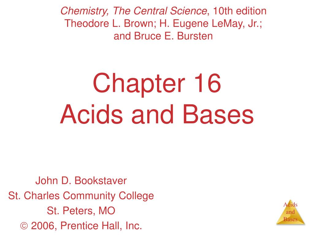 chapter 16 acids and bases l.
