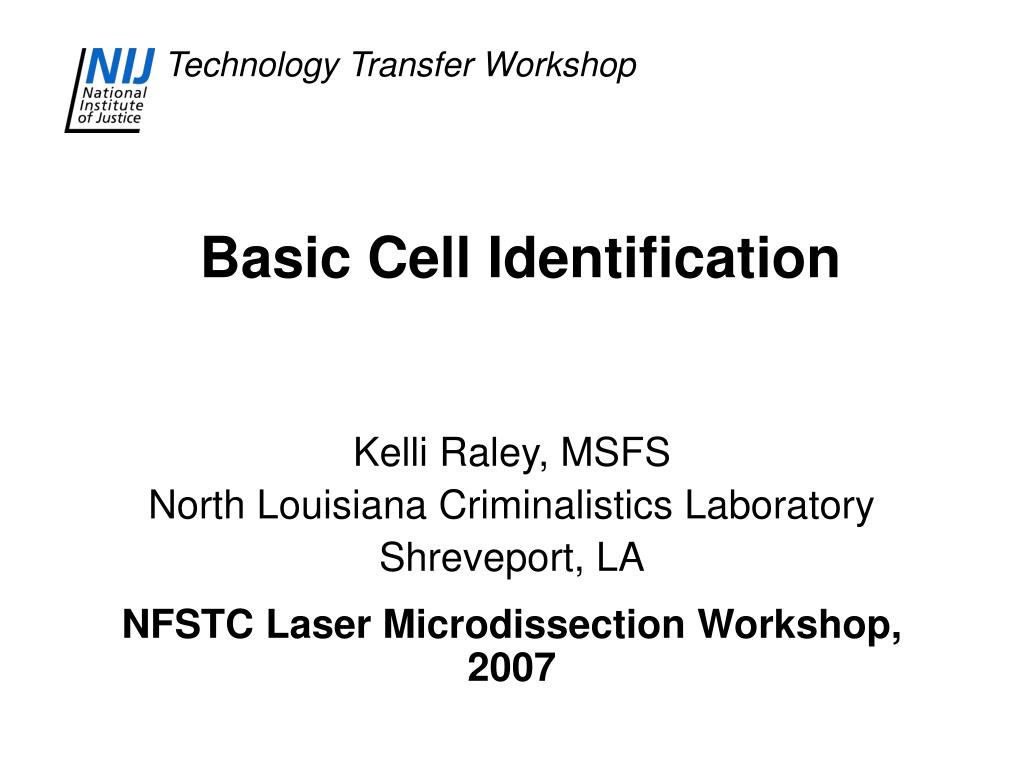 basic cell identification l.