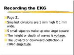 recording the ekg